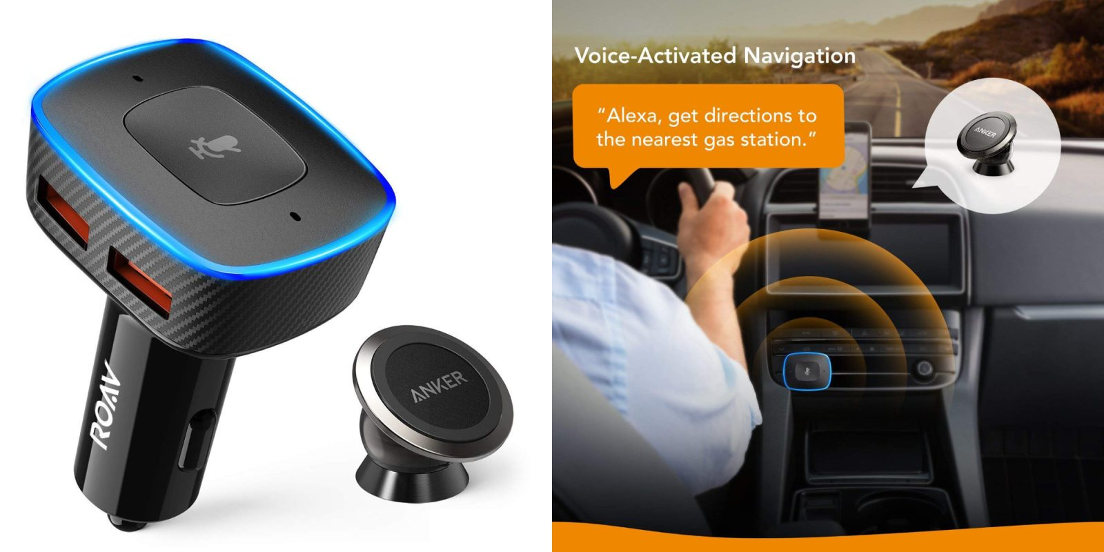 anker auto accessories take alexa on the road w roav. Black Bedroom Furniture Sets. Home Design Ideas