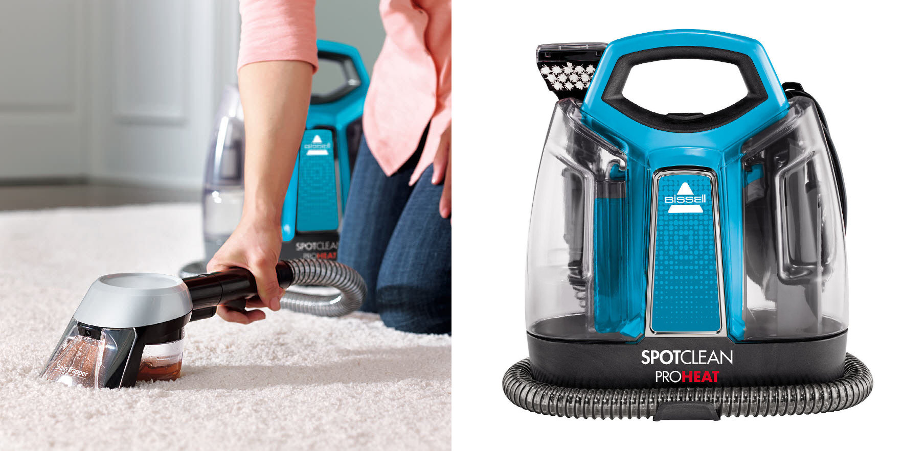 Clear Up Tough Stains W Bissell S Proheat Carpet Cleaner