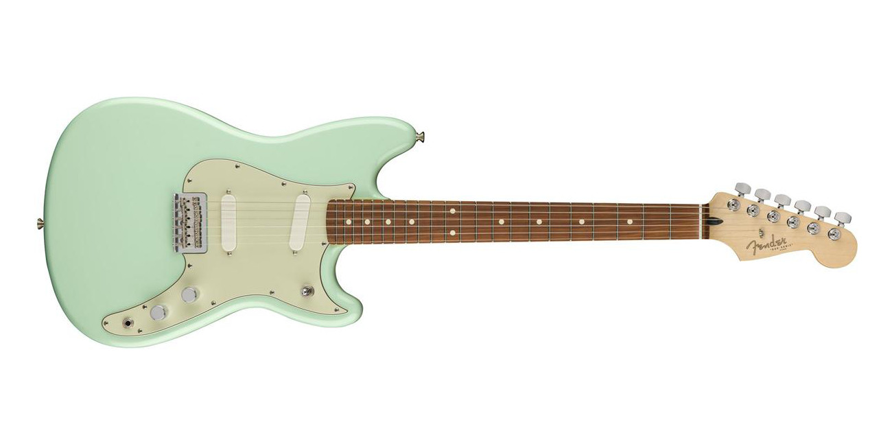 Add a Surf Green Fender Duo-Sonic Electric Guitar to your collection at over $200 off