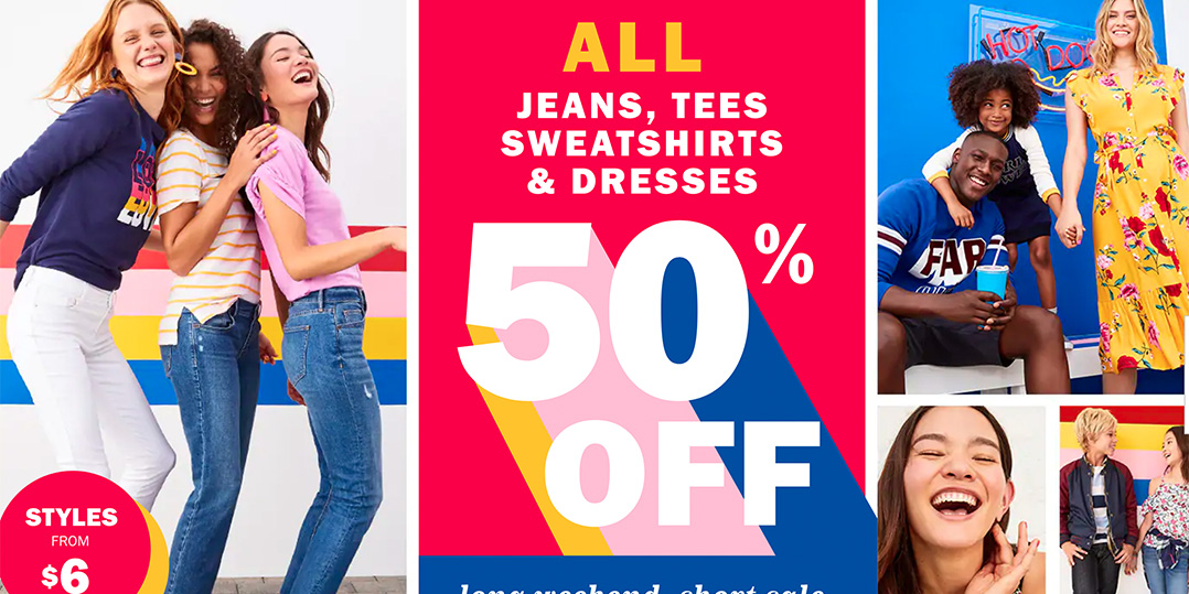 Old Navy's Sale takes up to 50% off sitewide + an extra 25% off your order