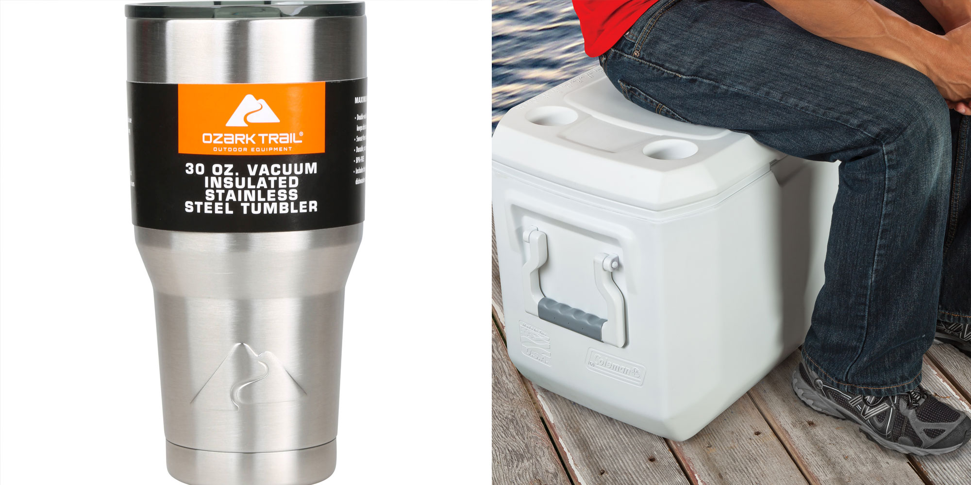 Coleman's 70-Qt. Xtreme Marine Cooler + 2 Ozark Trail 30-Oz Tumblers for $37.50 shipped