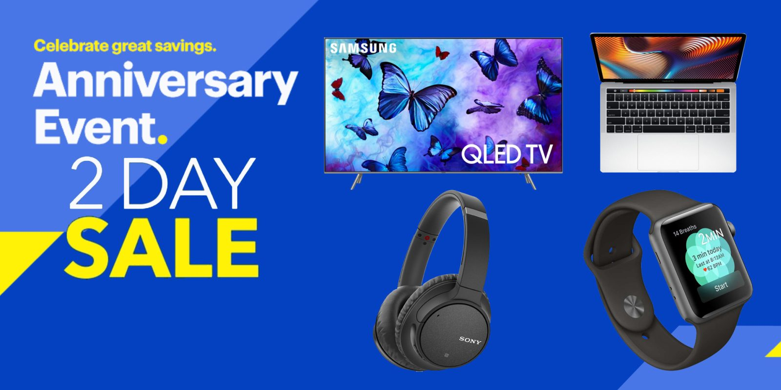best buy 2 day anniversary sale up to 750 off macbooks apple watch tvs much more - Best Buy Day After Christmas Sale