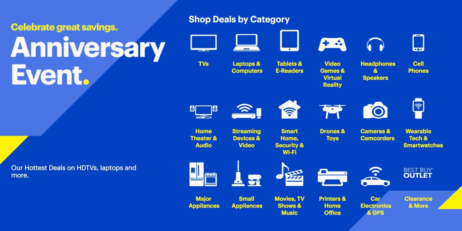 Best Buy's anniversary sale is now live! Deals on TVs, Mac accessories, smart home gear, more