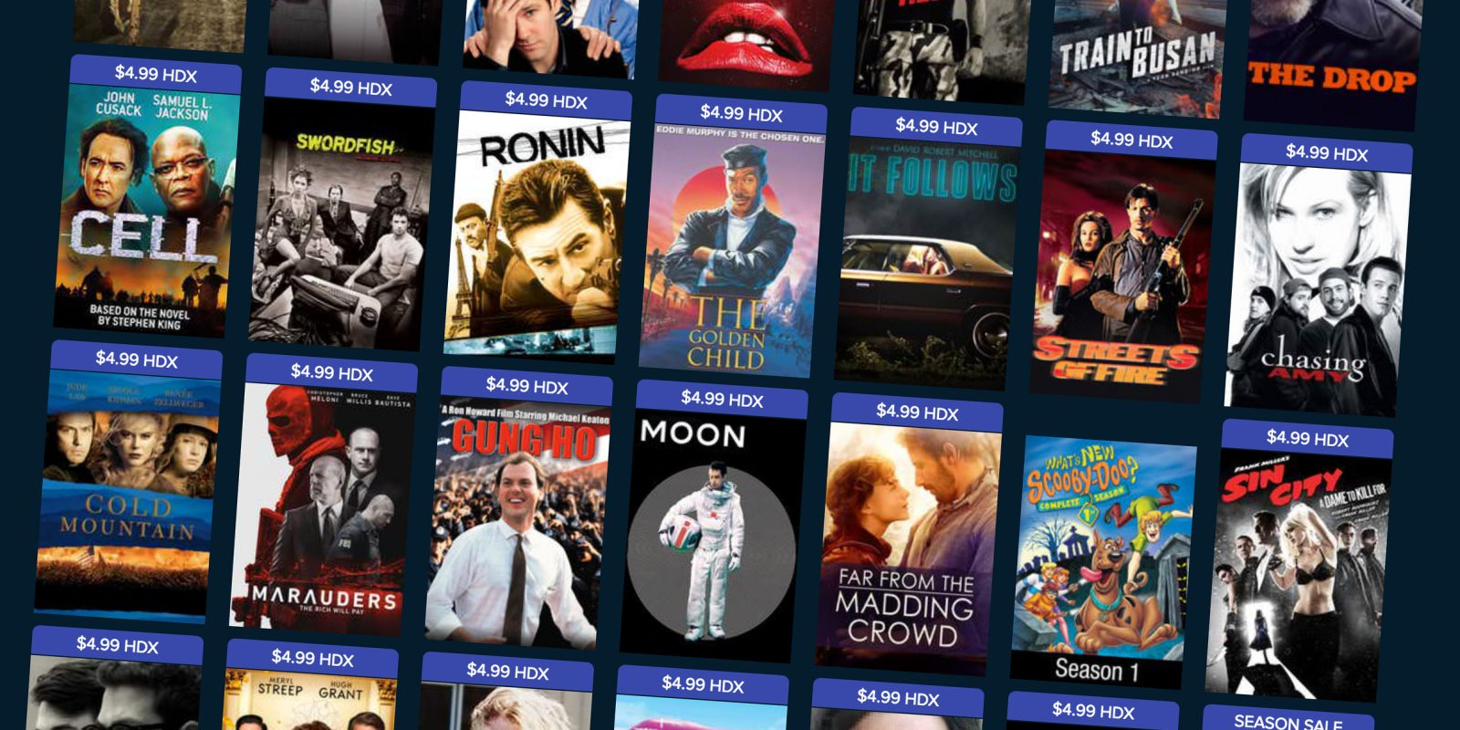 VUDU's latest $5 movie sale includes new and old hits from every