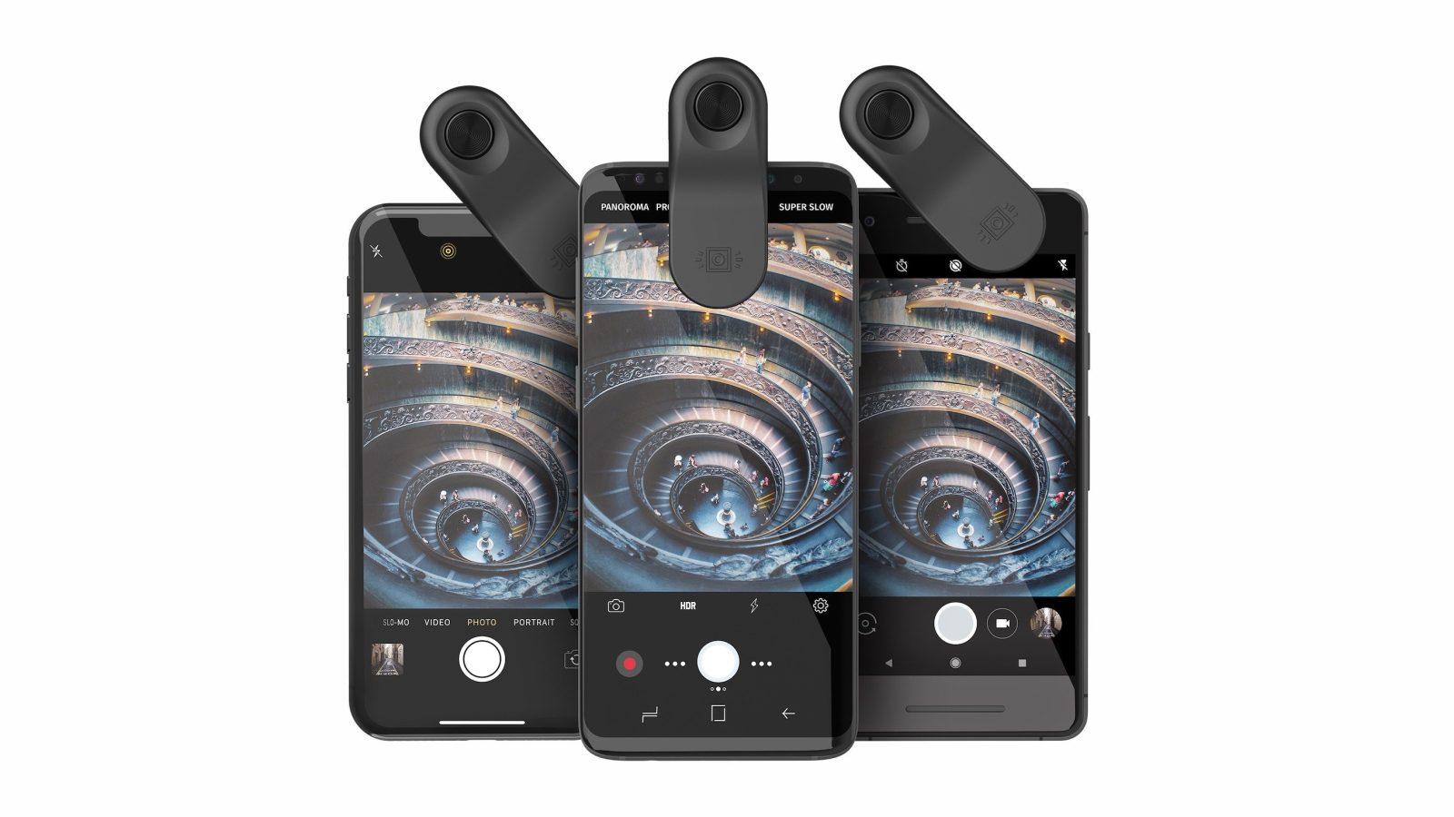 4a46e029009da7 Olloclip announces 'Multi-Device Clip' lens mount, compatible with iPhone X  and more