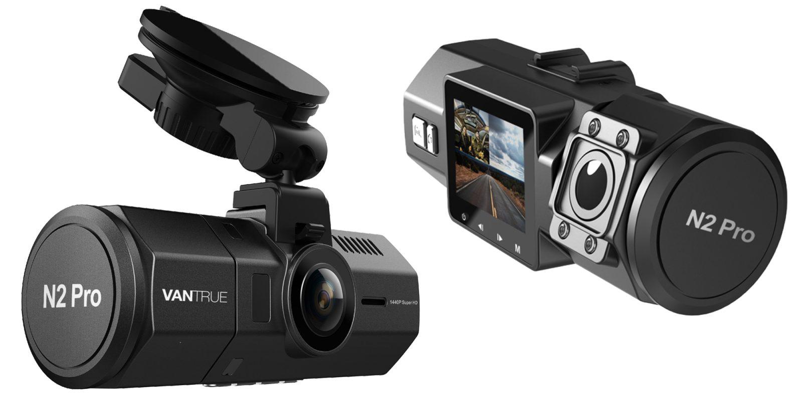 vantrue 39 s n2 pro 1080p dash cam has dual sensors now down. Black Bedroom Furniture Sets. Home Design Ideas