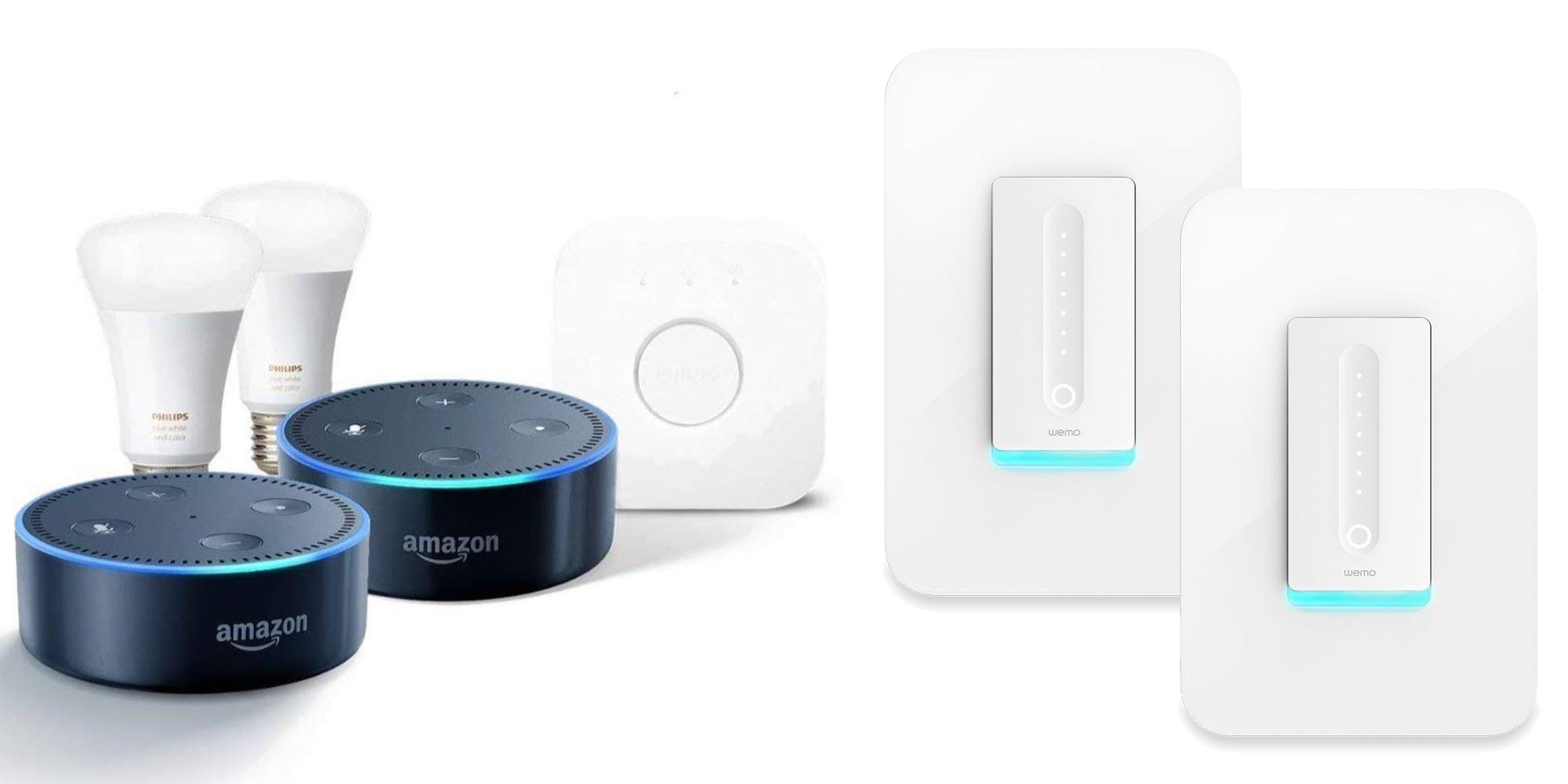 Smart Lighting Devices: Wemo Dimmer Switch 2-pack: $100, Hue Starter Bundle $150, more