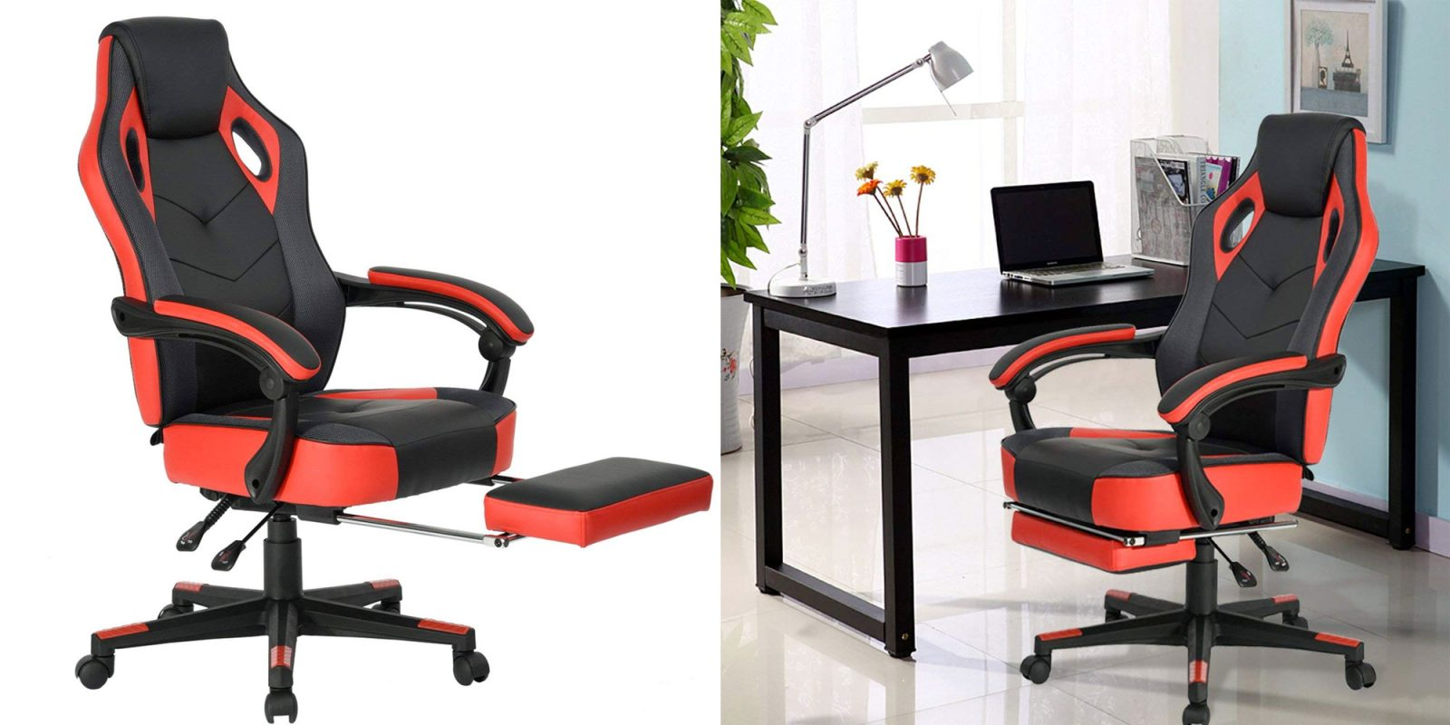 Upgrade Your Battlestation W This Gaming Chair That Has A Built In Footrest 109 Reg 160