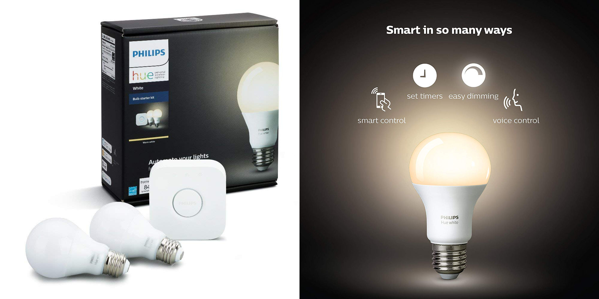 Save 20 Off Philips Hue White Starter Pack W 2 Led Bulbs