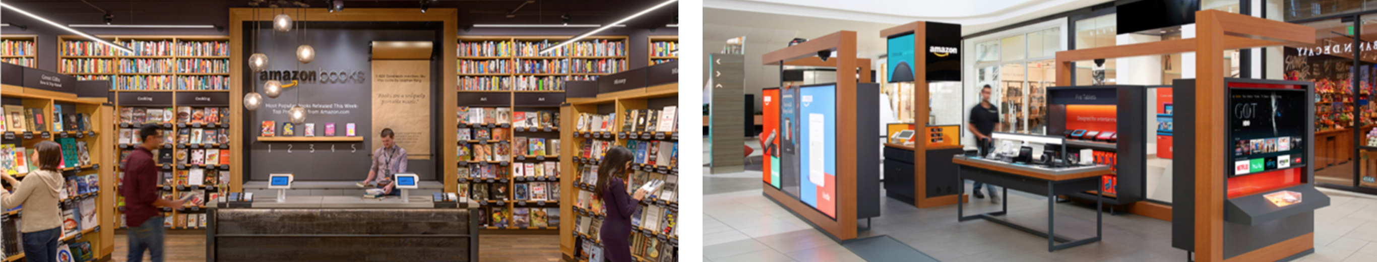 Amazon pop-up and bookstores