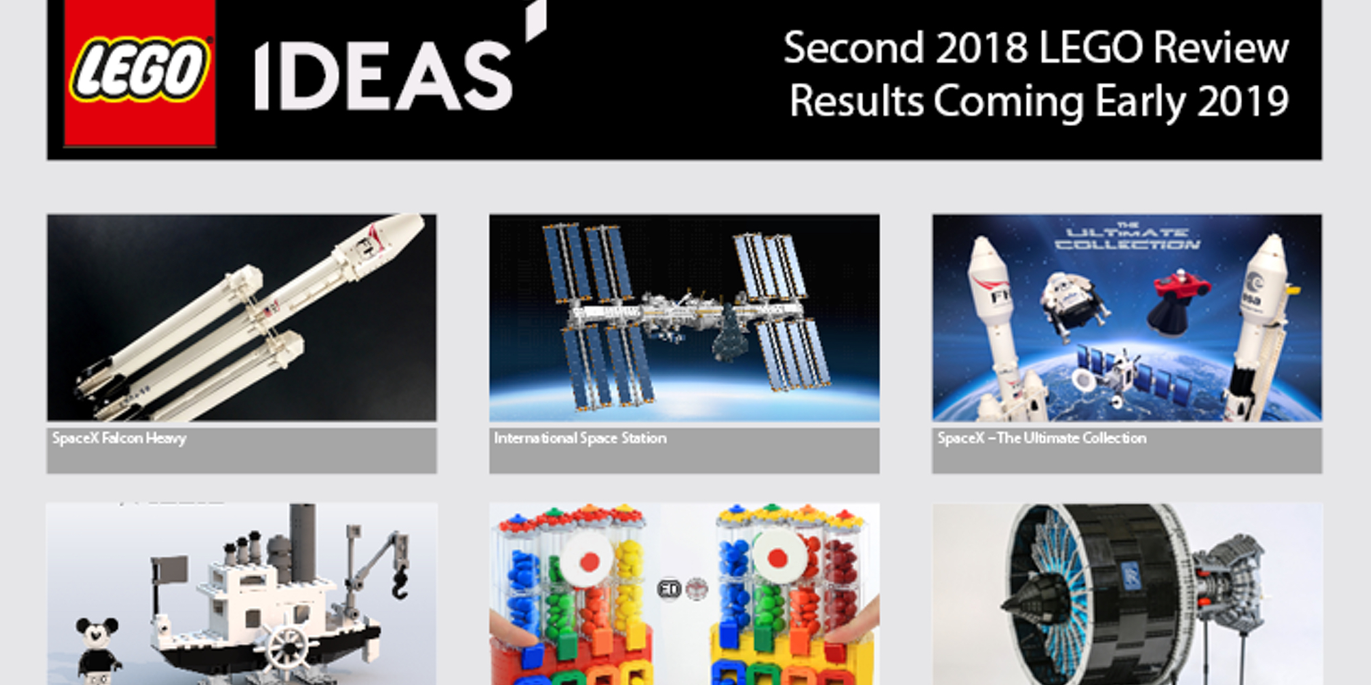 lego announces ten finalists for ideas fall review spacex. Black Bedroom Furniture Sets. Home Design Ideas