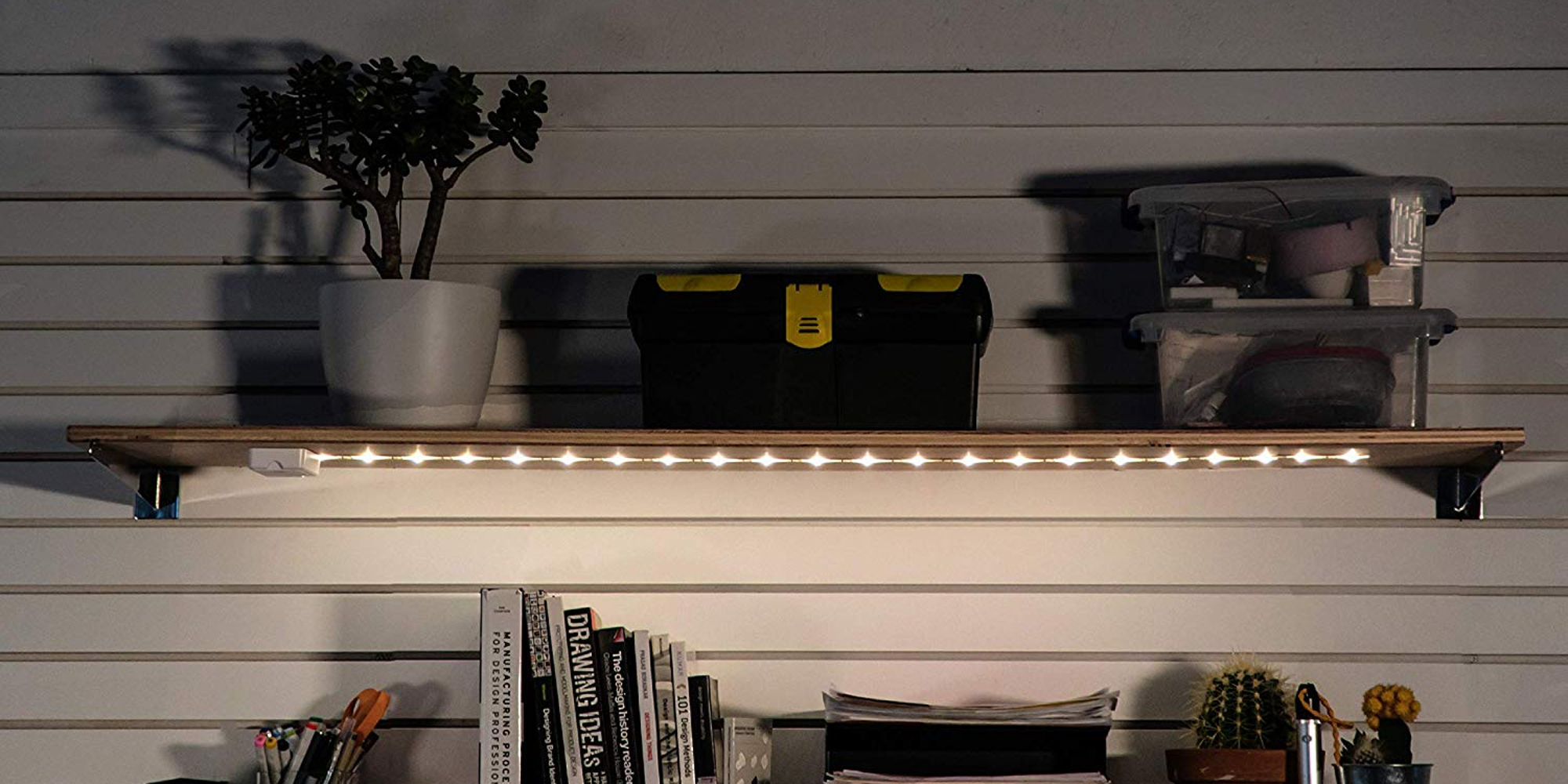 Add A Highly Rated LED Light Strip To Your Desk, Shelves U0026 Cabinets From  $11 Each