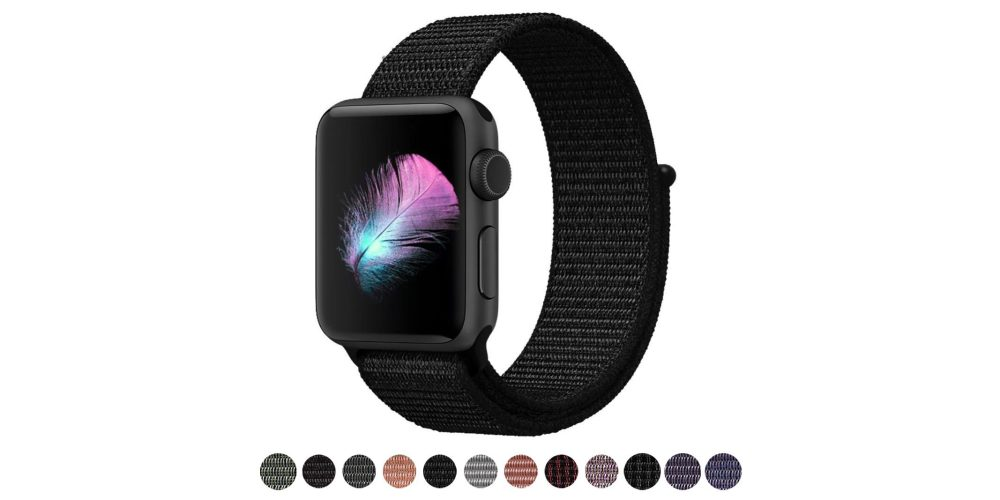 Yunesa Soft Nylon Loop Apple Watch Band