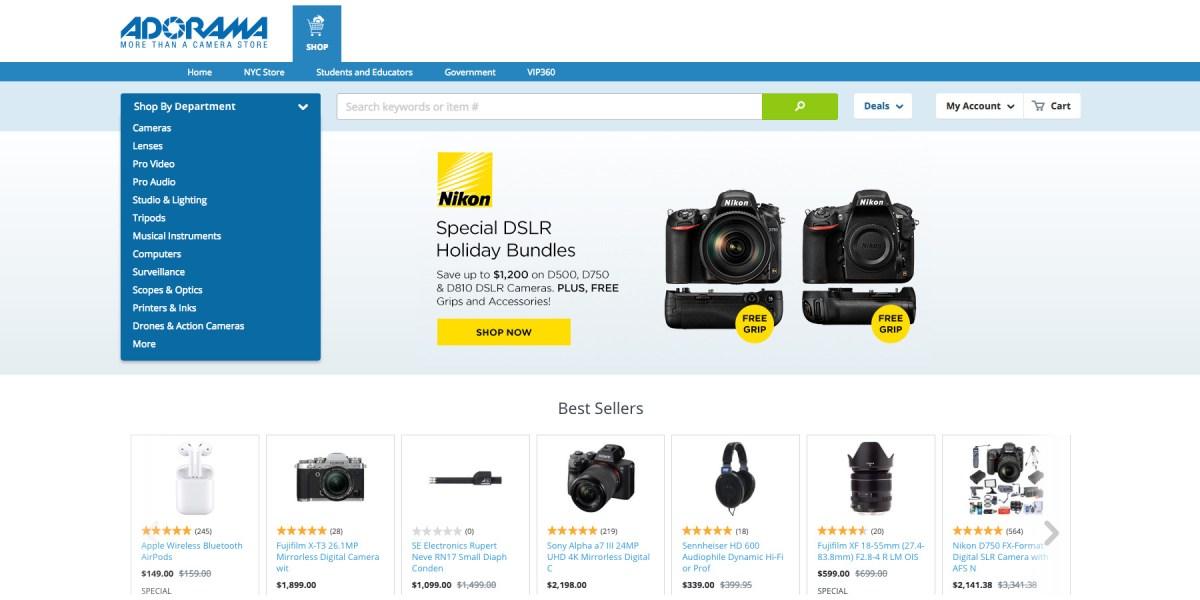 Adorama Black Friday 2018 Vip Discounts Free Shipping Camera Gear Bundles More 9to5toys