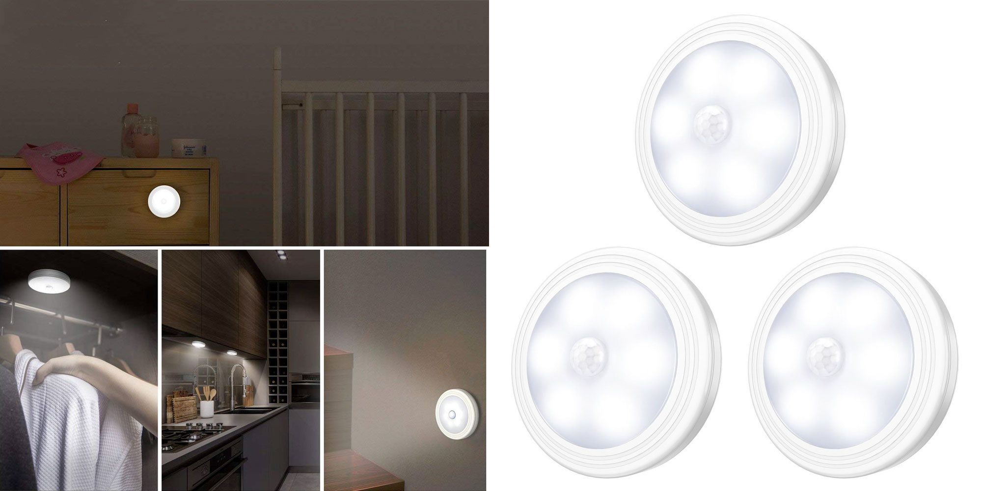 This 3 Pk Of Motion Sensing Led Lights Can Stick In Your
