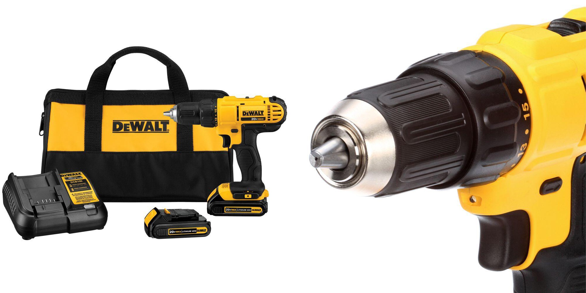 DEWALT's Cordless Drill/Driver Kit comes w/ two batteries: $80 shipped (20% off)