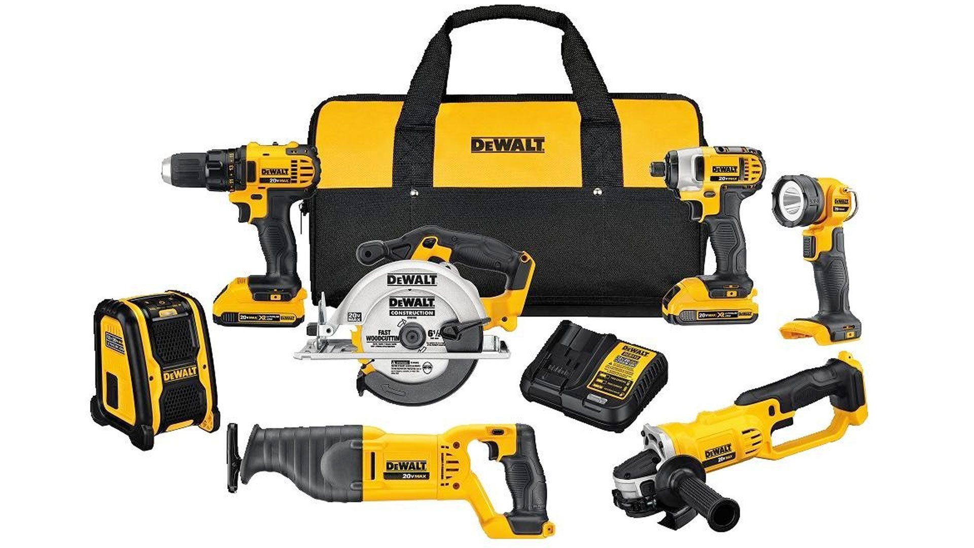 Tackle any home project w/ this DEWALT 7-tool 20V combo kit at $379 (Reg. $450)