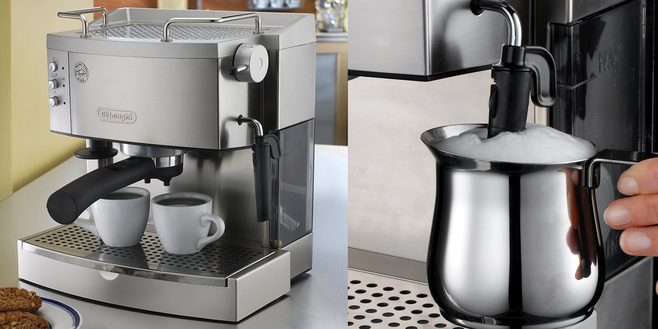DeLonghi Stainless Steel Pump Espresso Maker drops to $152 (Reg. up to $220)