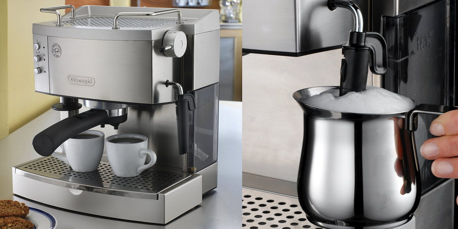 3581470b9dd DeLonghi Stainless Steel Pump Espresso Maker drops to  152 (Reg. up to  220)