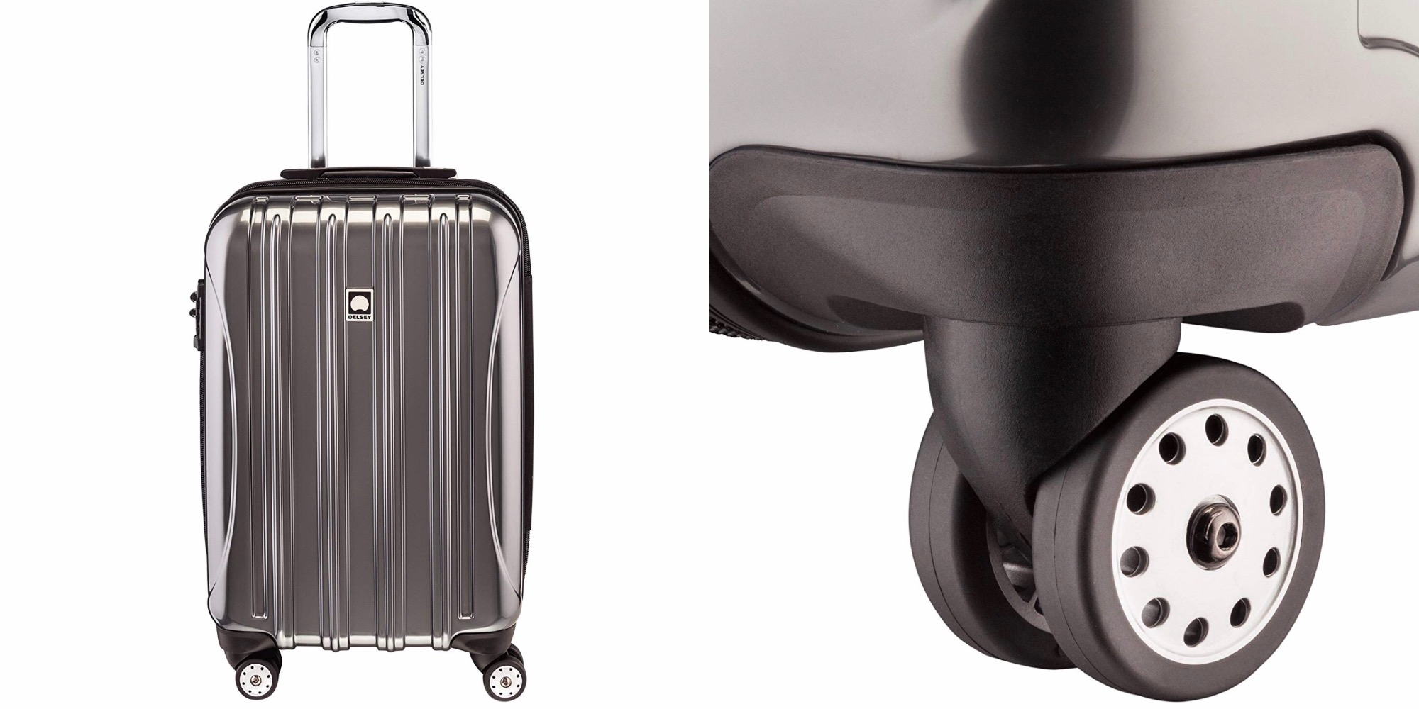 Delsey's Carry-On Spinner Luggage can be yours for $60, today only ($30 off)