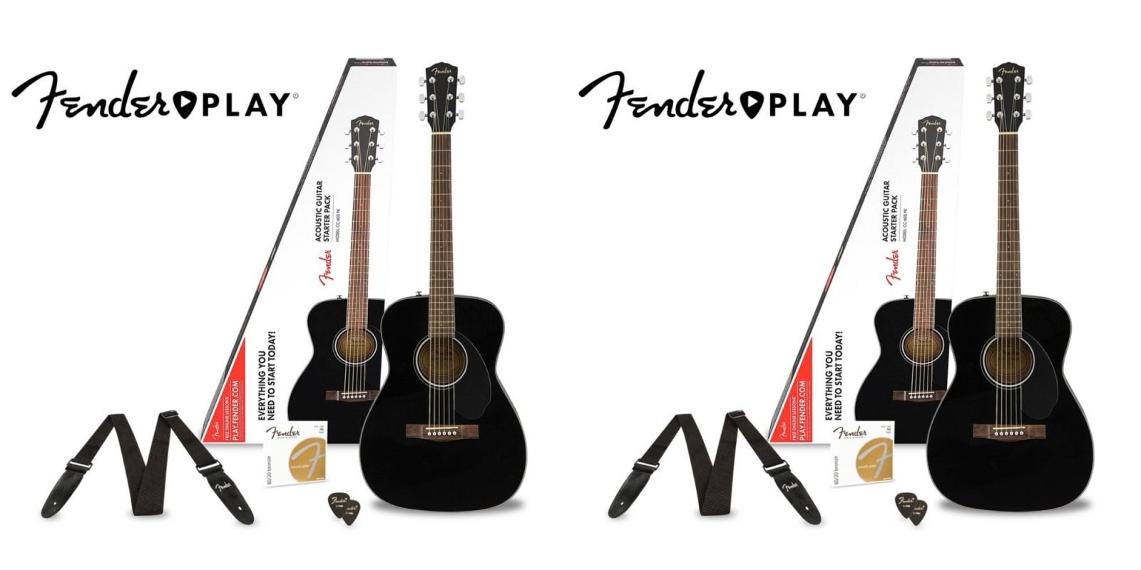 Learn to play guitar w/ this Fender Acoustic & 3 months of
