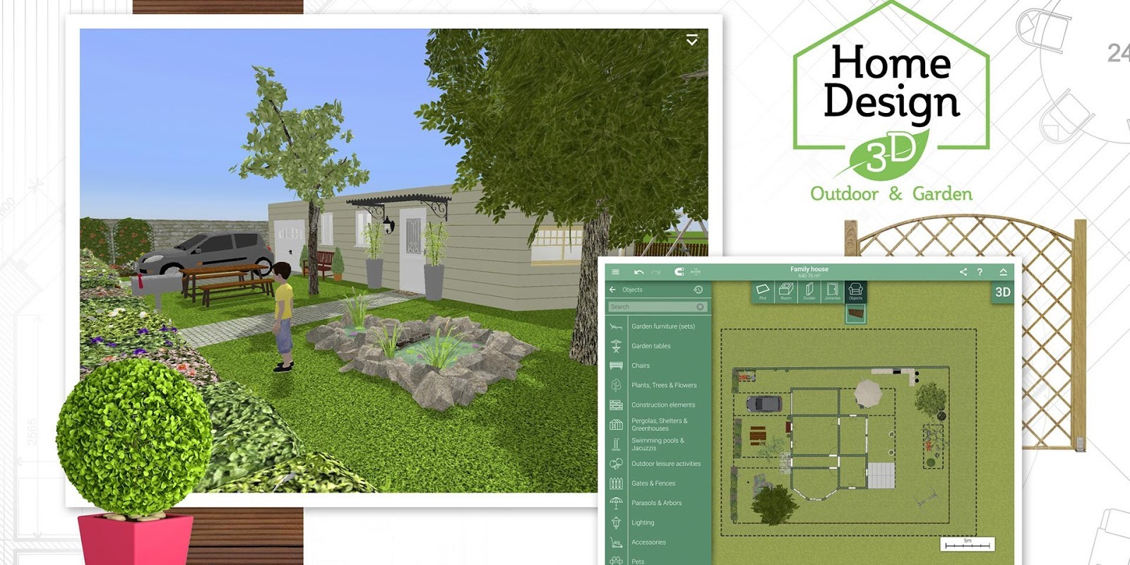 Create The Outdoor Space Of Your Dreams W/ Home Design 3D For IOS: $1 (Reg.  $5)