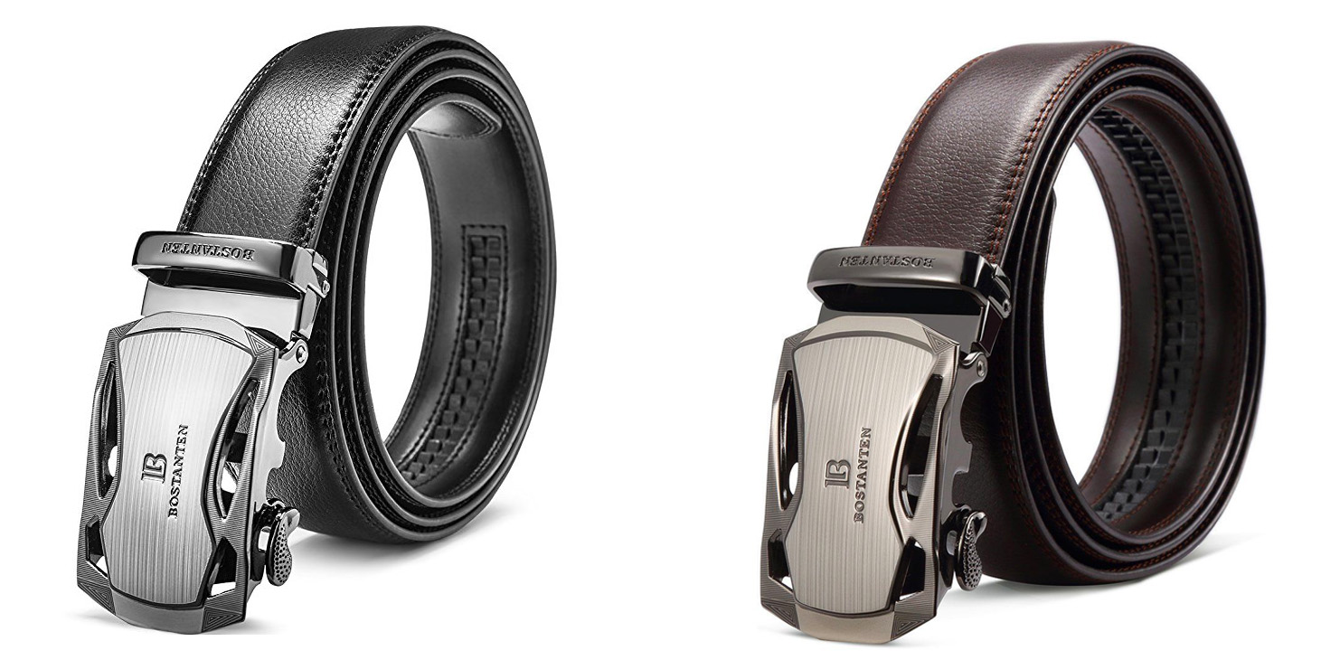 Pick up this men's leather dress belt from Amazon w/ a sliding buckle for $12 Prime shipped