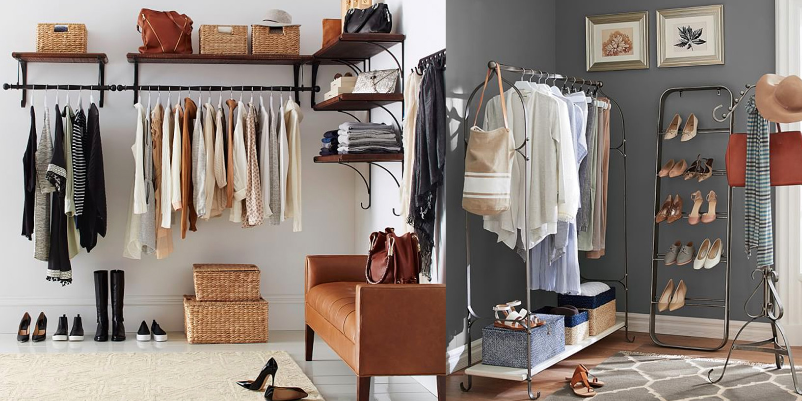 Pottery Barn Apartment Turns Any Space Into A Walk In Closet W/ Essentials  From Under $10