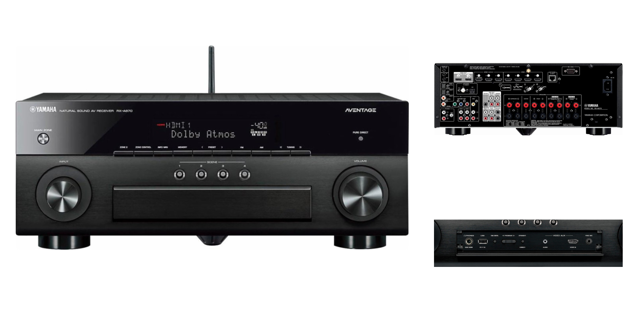 yamaha 39 s aventage a v receiver supports 4k dolby atmos. Black Bedroom Furniture Sets. Home Design Ideas