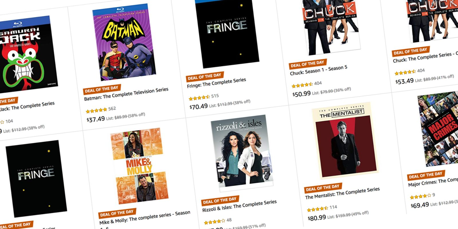 Today only, save on TV show Blu-ray/DVD collections from