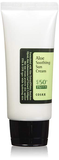 cosrx aloe sun cream spf