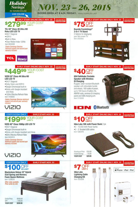 Costco Black Friday ad reveals first look at this year's