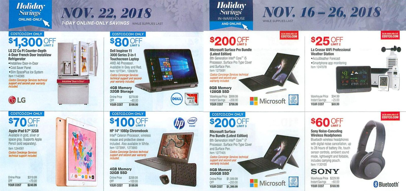 Costco Black Friday ad reveals first look at this year's deals