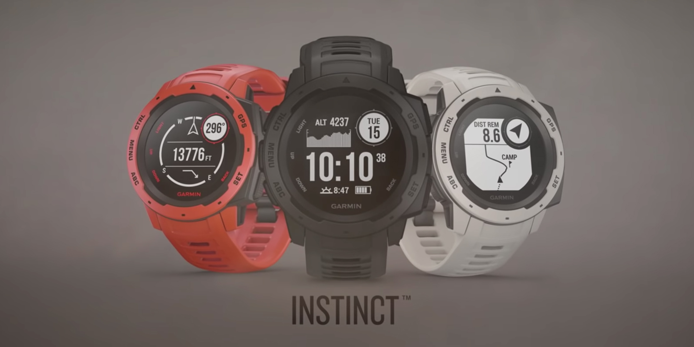 Garmin Instinct smartwatch arrives with rugged build and 14 day battery life