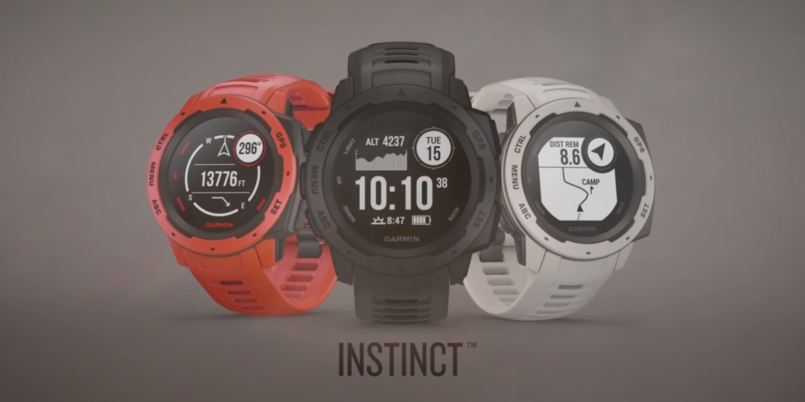 Garmin Instinct Smartwatch announced with 14 day battery
