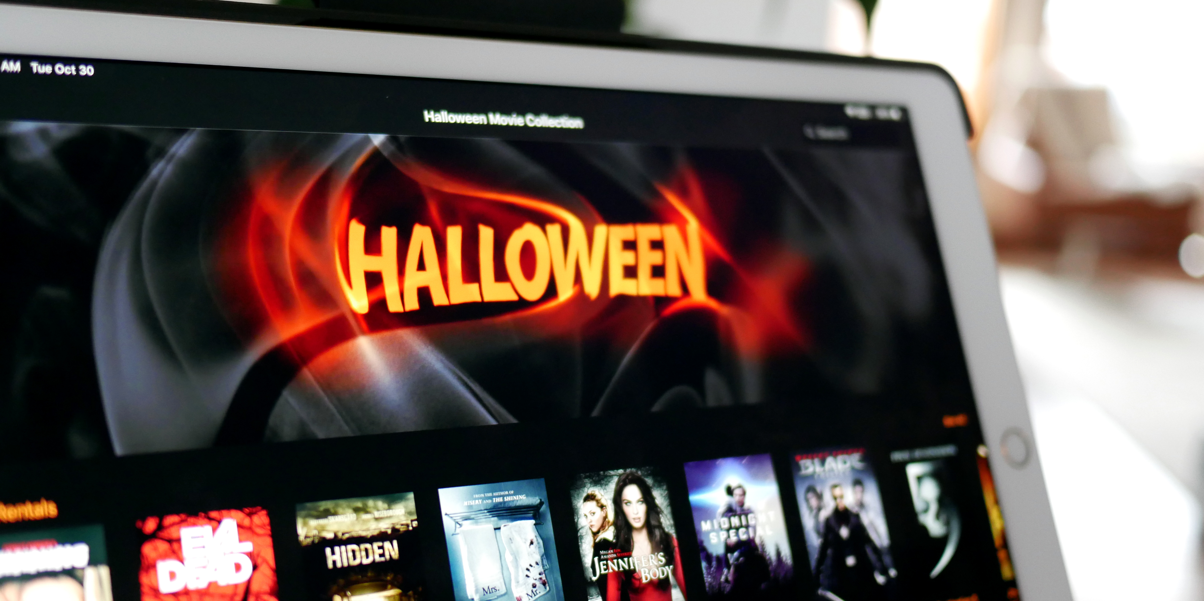 iTunes Extras Movie sale $10, Halloween films from $1, 4K starting at $5, more