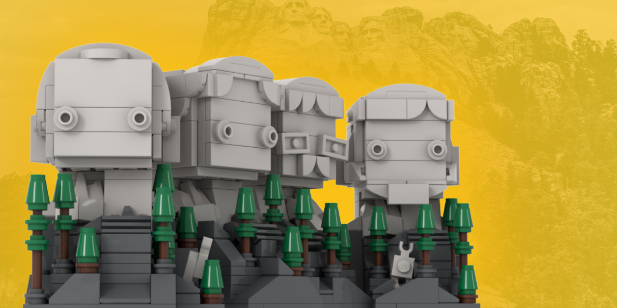 LEGO Ideas October BrickHeadz Mount Rushmore