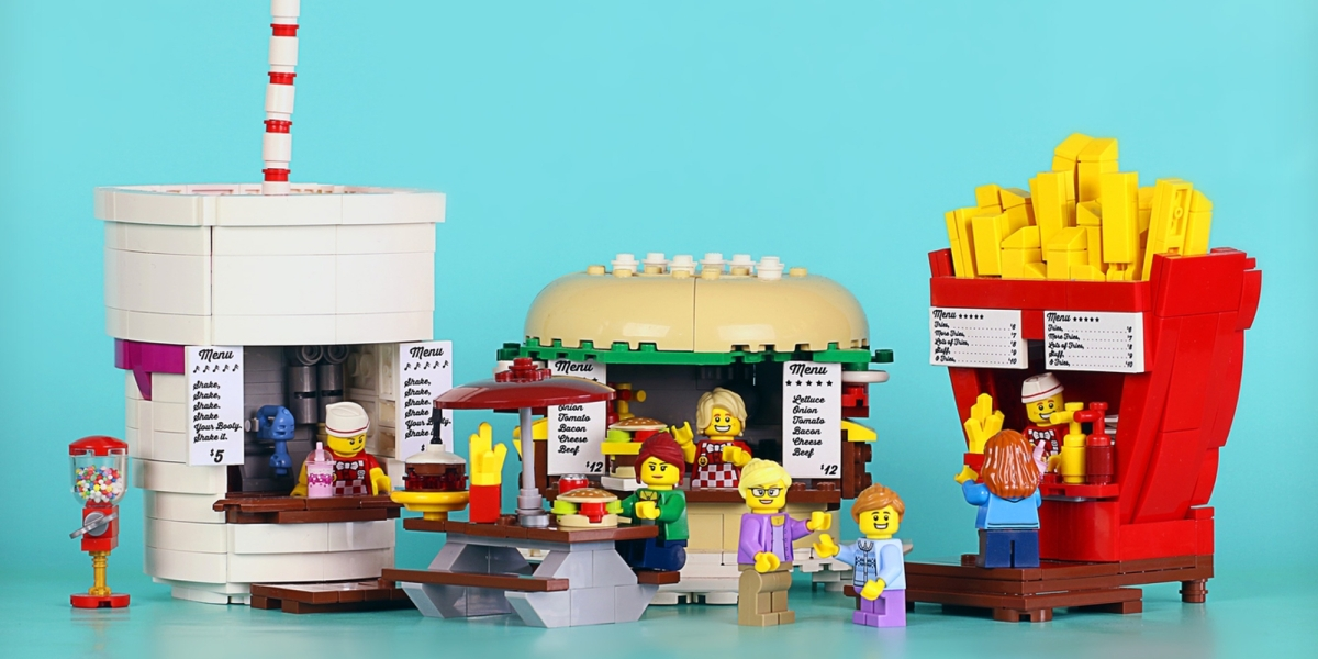 LEGO Ideas October Food Stand Diners