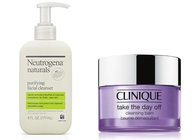 skincare neutrogena clinique cleanser