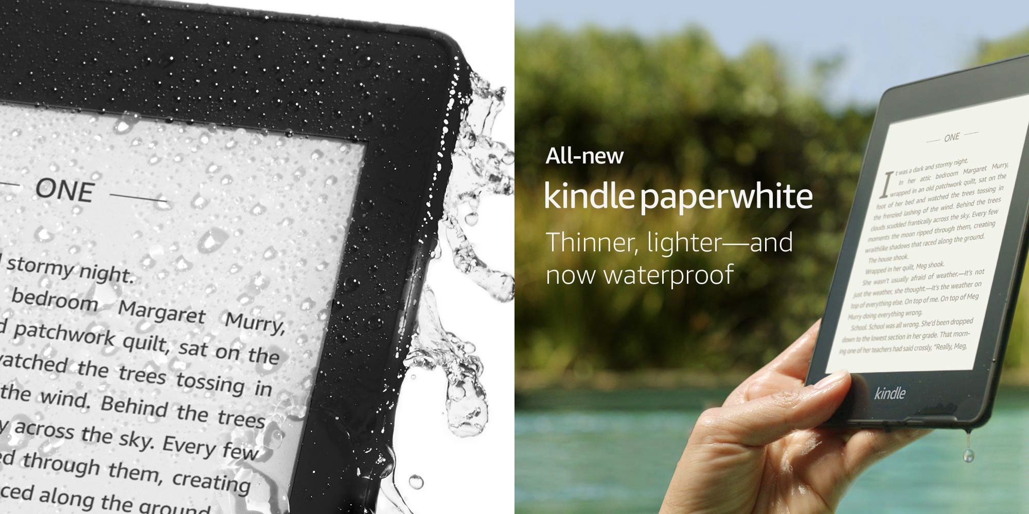 Amazon announces new Kindle Paperwhite with thinner, waterproof design