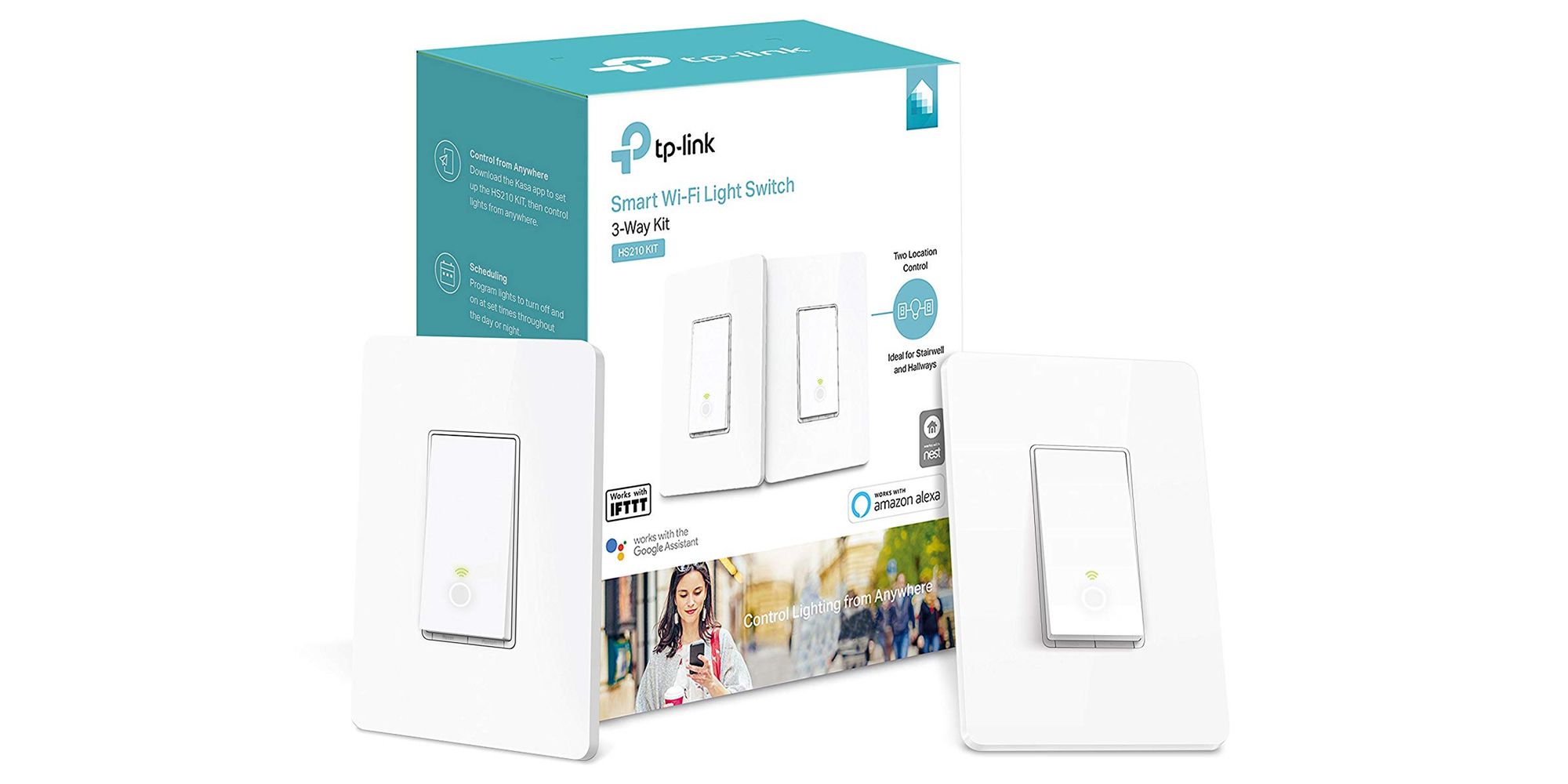 TP-Link Smart Light Switches are perfect for voice-controlled homes, get two for $45