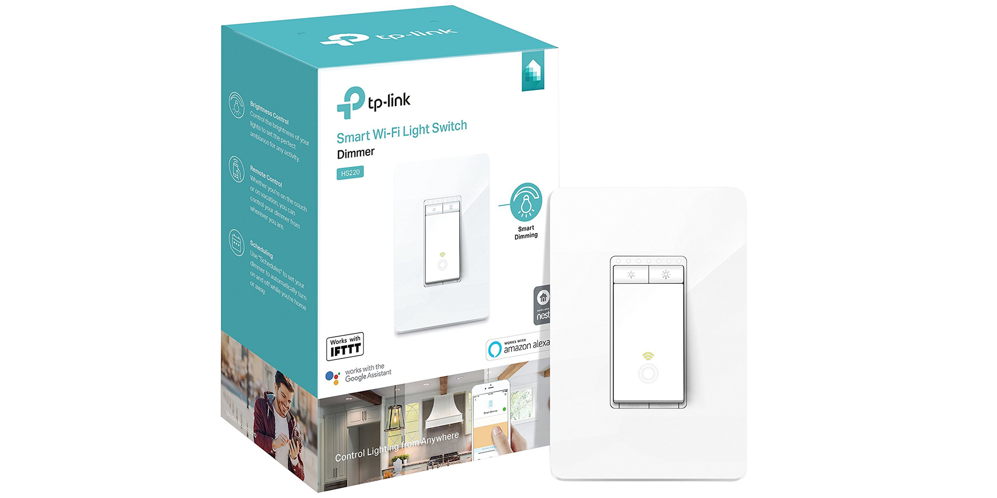 Score a two-pack of TP-Link Alexa and Assistant-enabled Light Switches for $60 (30% off)