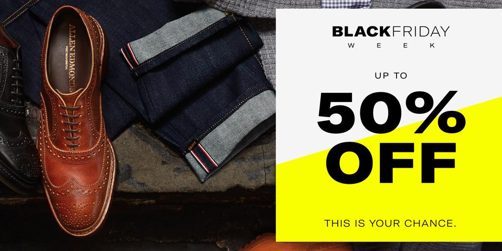 Allen Edmonds Black Friday Sale takes