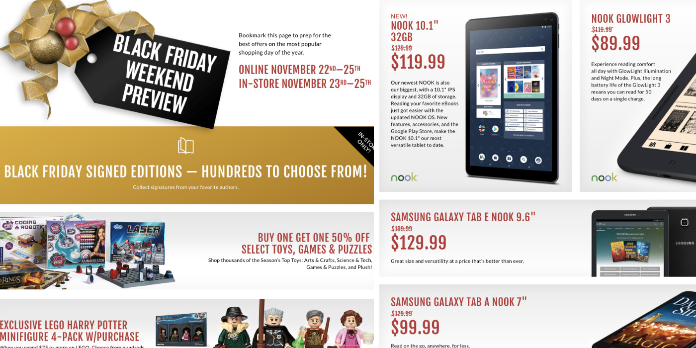 Barnes Noble Black Friday Ad 2018 Books Up To 50 Off Nook