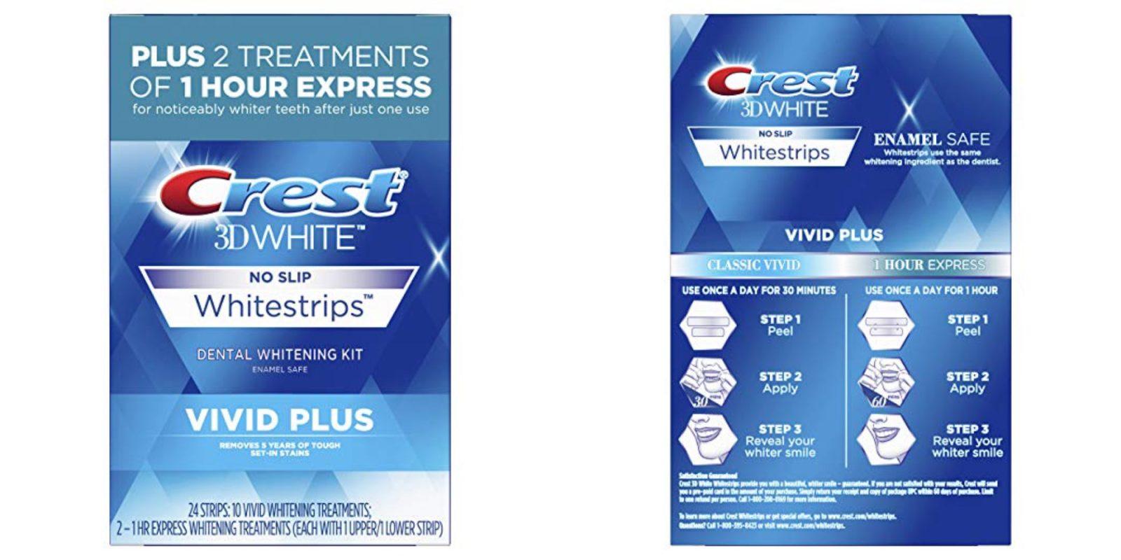 Amazon Has 10 Treatments Of Crest S 3d Vivid Plus Whitestrips For