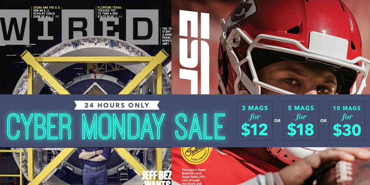 cyber monday magazine deals live from 3 yr wired men 39 s health espn gq dwell more 9to5toys. Black Bedroom Furniture Sets. Home Design Ideas