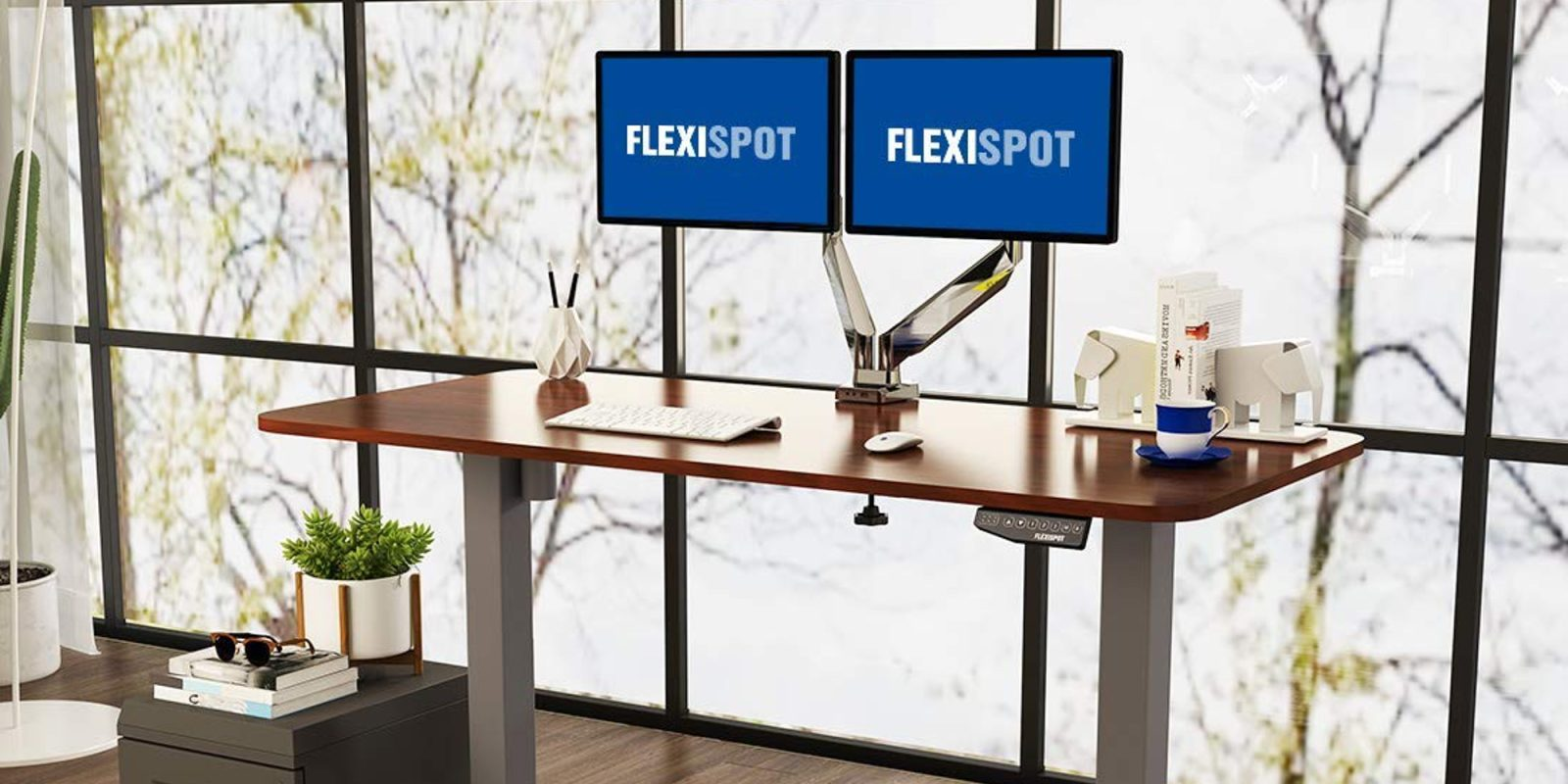FlexiSpot's highly-rated Standing Desk and accessories are up to 30% off, with deals from $56
