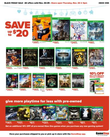 GameStop Black Friday Ad: $50 GC w/ Nintendo Switch, PS4 Pro