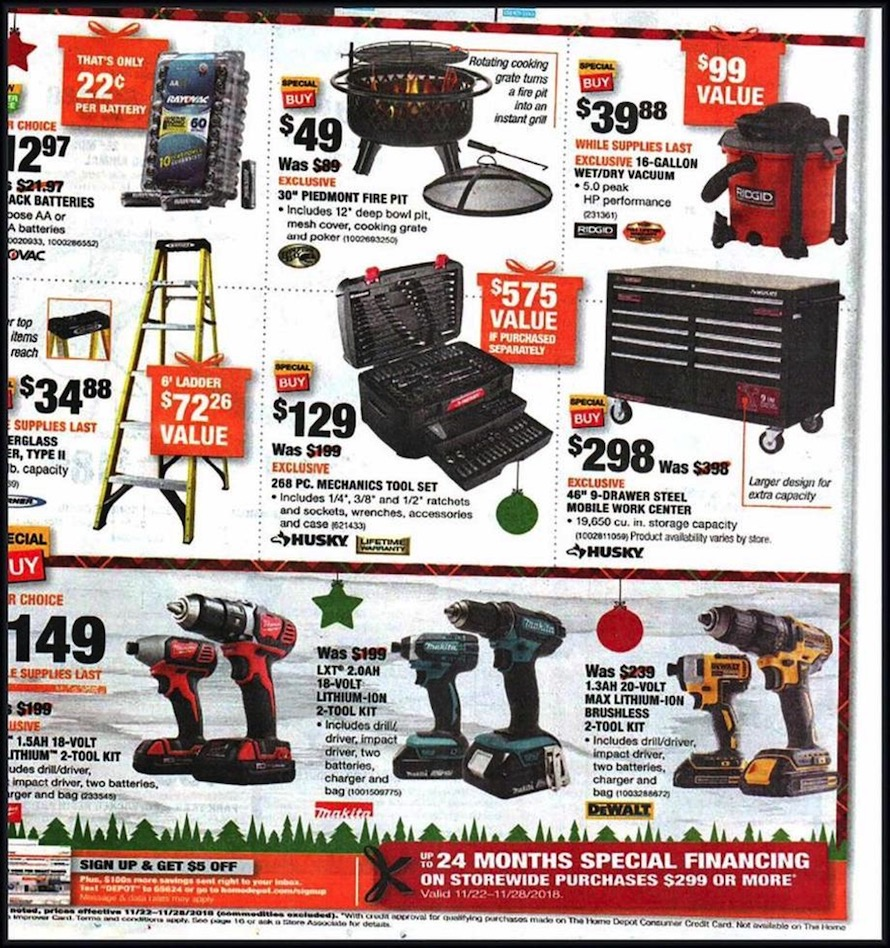 Home Depot Black Friday 2019 Milwaukee Tools Home Depot Also Offered An Eight Page Advertisement Of Appliance Savings On Kitchen Appliances Such As Refrigerators Dishwashers Electric