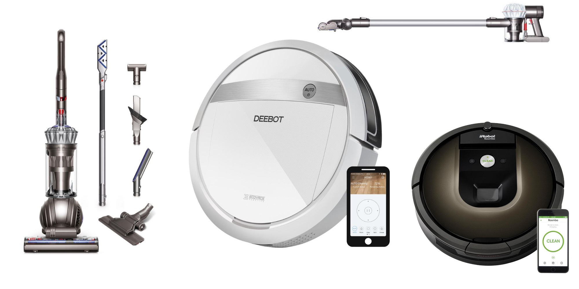 Home Depot offers ECOVACS' Robot Vacuum/Mop for $229 (Reg. $300), Dyson V6 $198, more